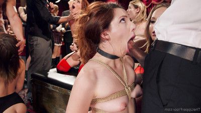 Four naked slave lasses serve & fuck in a bdsm fuckfest of lifestyle players, unkind mi