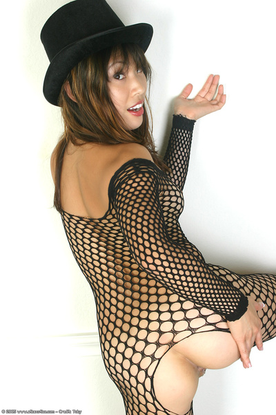 Eastern juvenile expands ass cheeks to as mother gave birth smooth head gentile in fishnet bodystocking