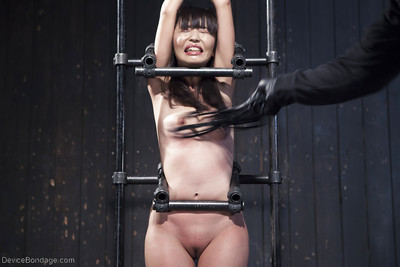 Chinese beauty Marica Hase sheltered in painful clothespeg pegging and clammy wax