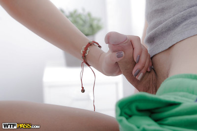 Undersize Chinese sugar-plum Miranda enjoys sweaty oil massage prior to before banging