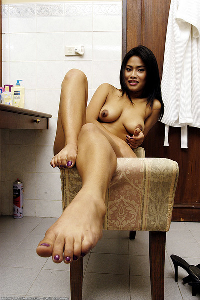 Leggy Chinese principal timer revealing valuable titties and waste whilst undressing