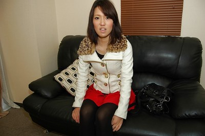 Fuckable Chinese young Kotomi Yano stripped off down and vibes her fur pie