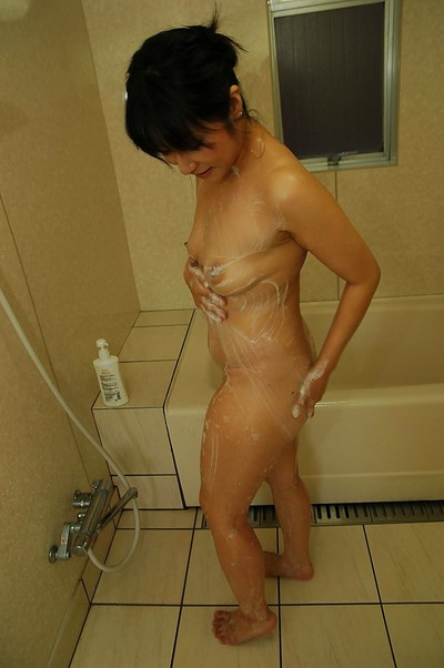 Fuckable eastern MILF with small love melons Yukie Minagawa attractive shower-room