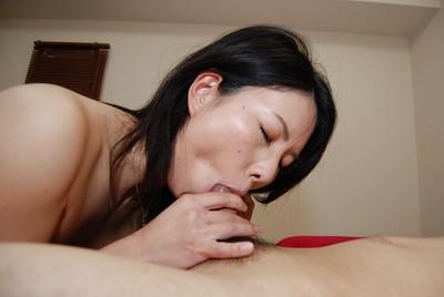 Wonderful Oriental angel Takako Kitajima is demonstrating her facefucking skills