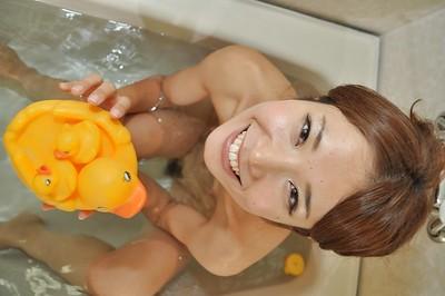 Splendid Japanese doll Wakana Asada getting as was born and pleasing shower-room