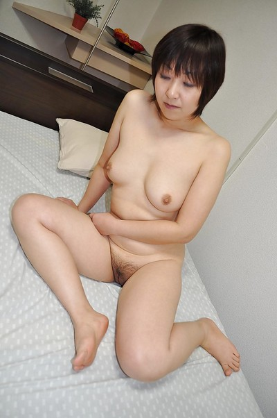 Chinese MILF Masae Shimatani has some wet crack fingering liking right after washroom