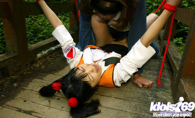 Slave Chinese hotty obtains fixed and roughly owned outdoor