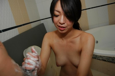 Eastern queen Airi Kawaguchi has some blow job and snatch fingering getting joy