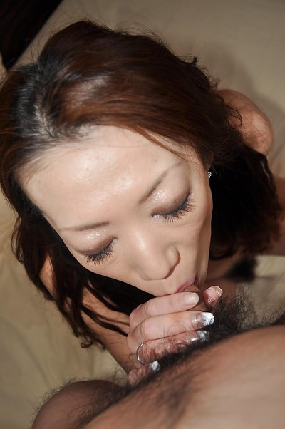 Eastern MILF Ryoko Matsuzaka gives a proper cocksucking and purchases shagged hard