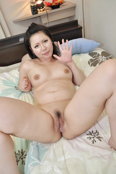Chinese MILF Aya Uchiyama attains her hirsute cage of love pumped and creampied