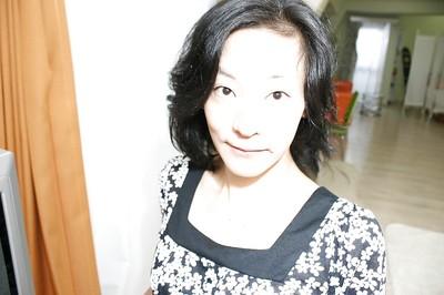 Raunchy Japanese MILF Aya Sakuma undressing and exposing her holes