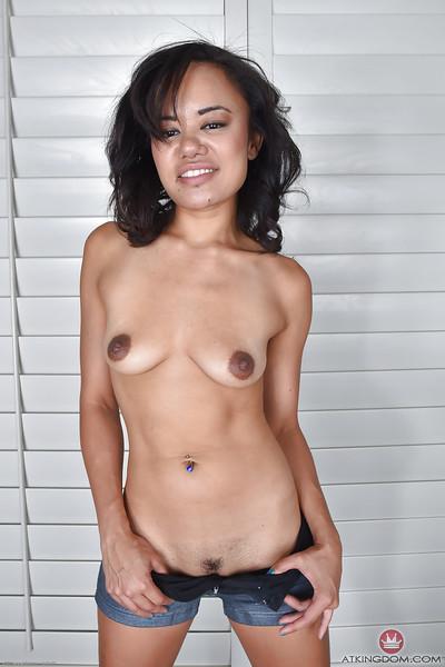Eastern solo dear Annie Cruz displaying broke through tongue and barefeet