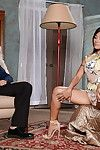 Kaylani Lei is tasting this lewd as hell weiner only for sex cream