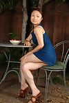 Stunning teen dear with magnificent legs lets slip  Oriental cage of love in high heels