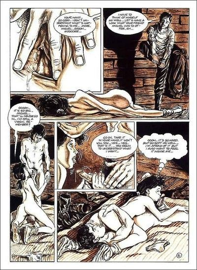 Porn comics with hot chico being fucked intense