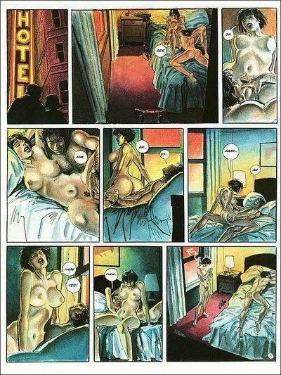 Porn comics with moist chick being dug hard