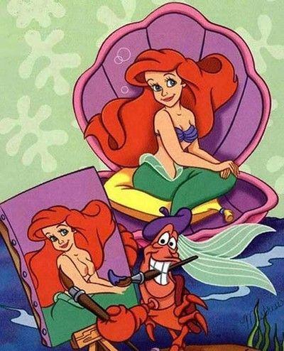 Ariel porn caricatures