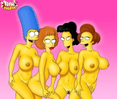 Big scoops in toons. flintstones and simpsons in porn