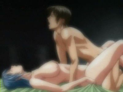 Passionate twosome does fanatical standing in the raunchy anime