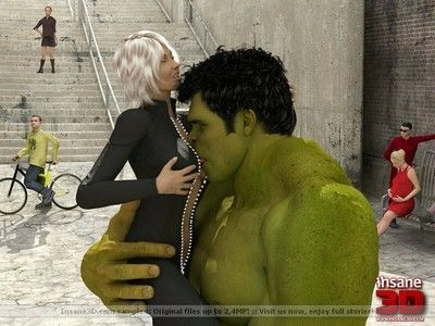 3d banging fotos with beast hulk