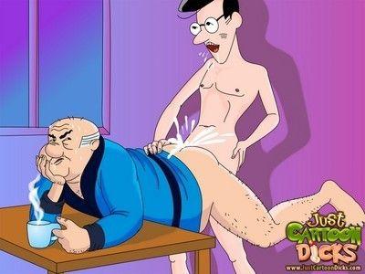 Scoobydoo studs enjoying clammy gay guy sex