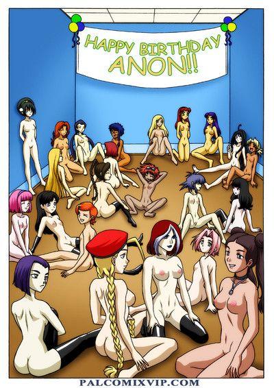 Gratifying birthday ANON!! Cool Porn Comics