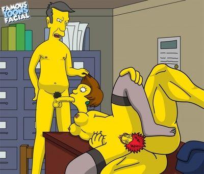 Simpsons - Willie with Skinner fucks Edna Krabappel