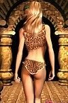 3d girlfriend karen teasing us with her leopard lingeria