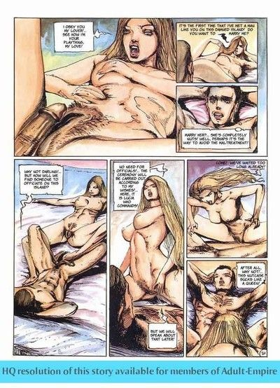 Brawny stud fucks two sweaty ladies in porn comics