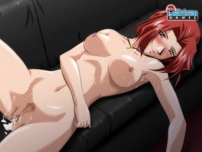 Porn games with anime babes all sheltered in jizz