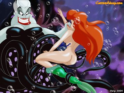 Young and beautiful ariel has fallen fall in love with the grabs of the evil ursula