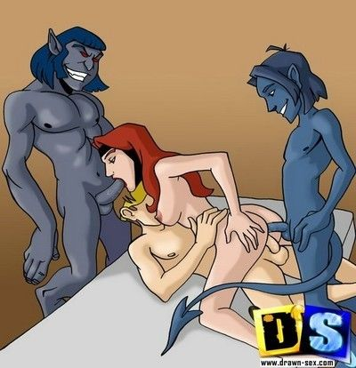 Sex-hungry x-men show their real kinky selves