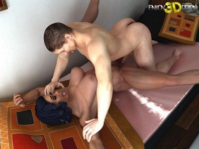 Fascinating bodybuilder dear gets penetrated severe at have fun 3d porn