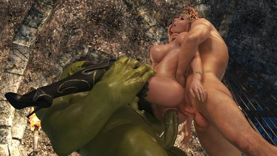 Malicious inexperienced orc destroys little elf