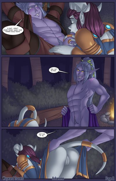 Night Elf makes love sticky Draenei in XXX Comics
