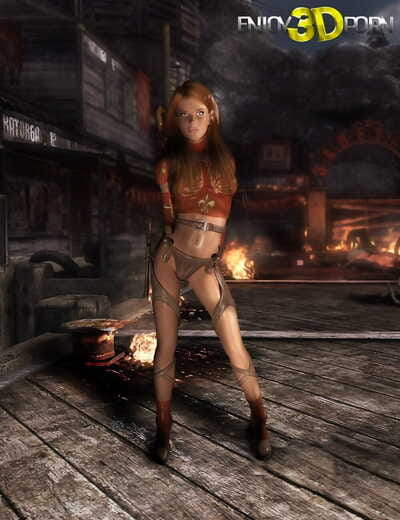 Clammy redhead gal is hotter than fire - part 341
