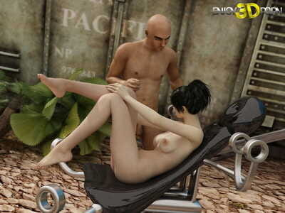 Nude brunette benefits from touched outside - part 160
