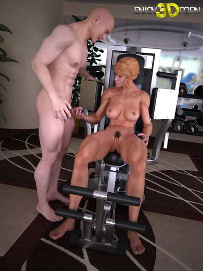 Personal trainer bonks his sticky workout life partner in the gym - part 340