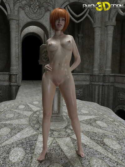 Oiled up redhead shows per inch of her exposed body - part 434