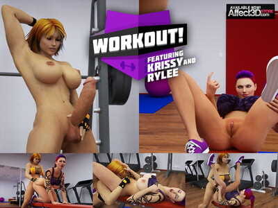 Animated tgirl gym - part 996