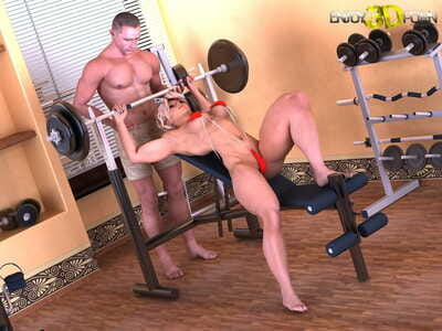 Mate and girlfriend trainers receive cruel in the gym - part 140