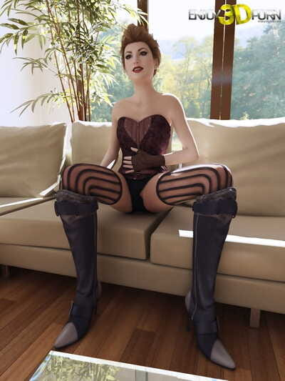 Hot chick in corset aspires to show her body - part 1478