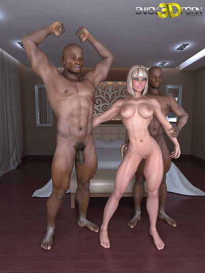 A pair of black fellows fuck an strapping white hotty - part 137