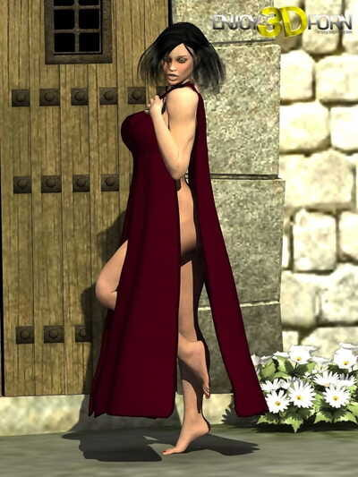 Beefy dark hair disrobes to show her toned body - part 153