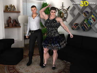 Muscle woman loves to suck pride - part 173