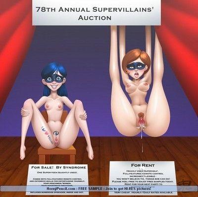 Caricature porn fight against crime