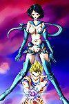 Sailormoon and dragonball anime hentai copulation