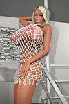 Bigtitted 3d blond pretty posing on the stairs