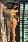 Biggest breasted 3d american indian princess posing outdoors