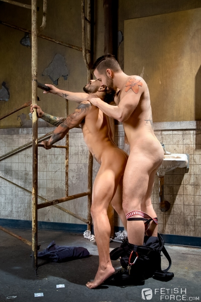 Beneath arrest, Draven Torres is taken by Preston Hard to an interrogation room to be strip-searched. Completely naked, Draven assumes the position. It